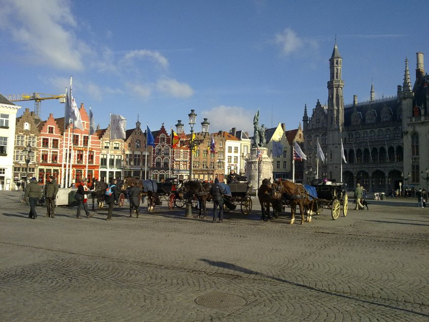 horse drawn carriages Bruges