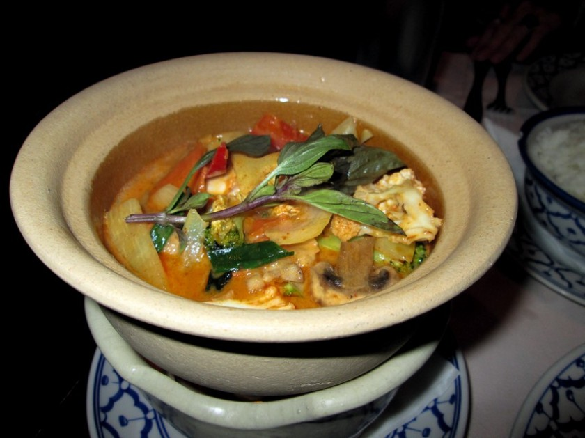 Red curry with vegs, 15€