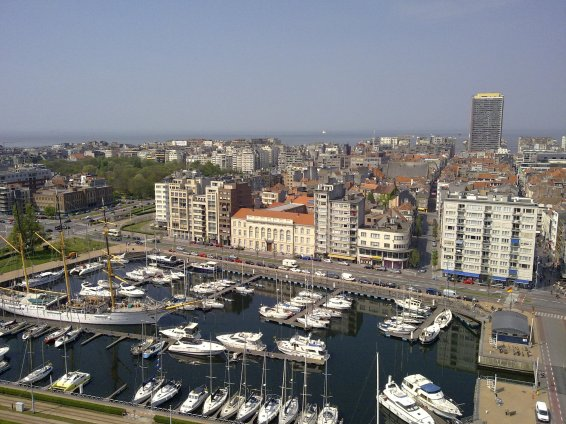 Mercator and city center, Ostend