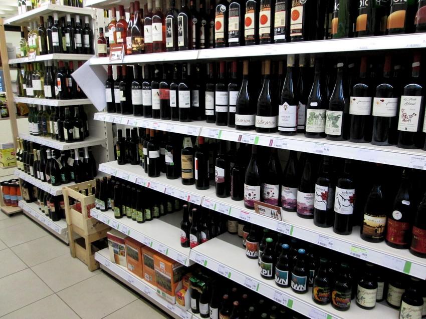 Organic wines at Biovita, Bruges
