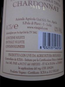 Giol, Chardonnay ' Prodoto Vegano'