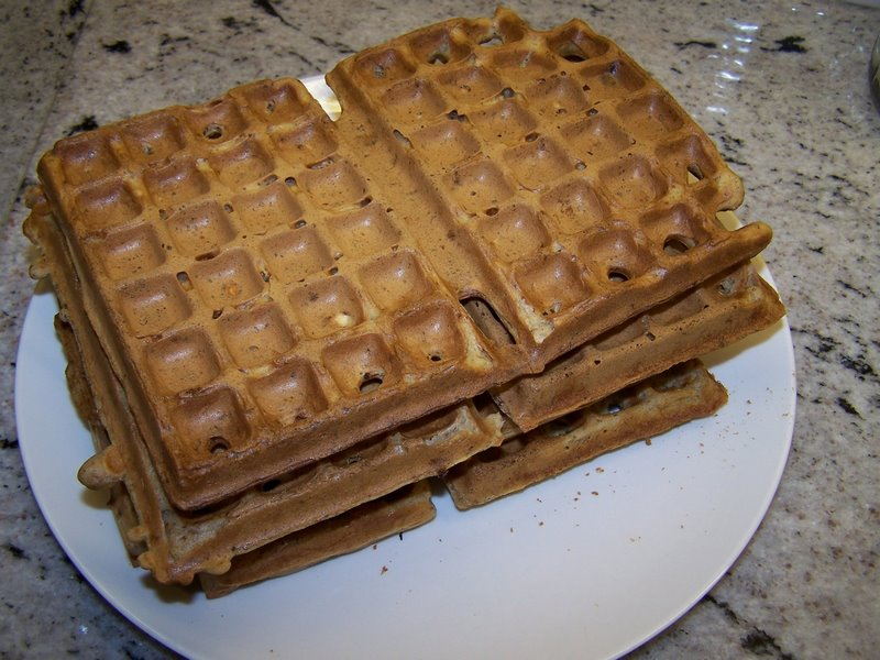 our homemade vegan Belgian waffles