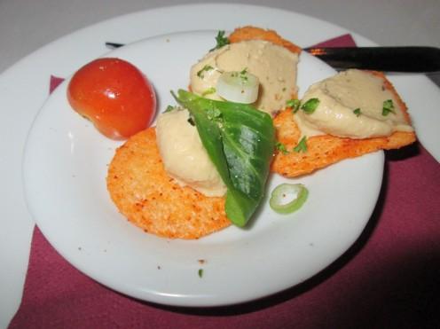mushroom creme and basil