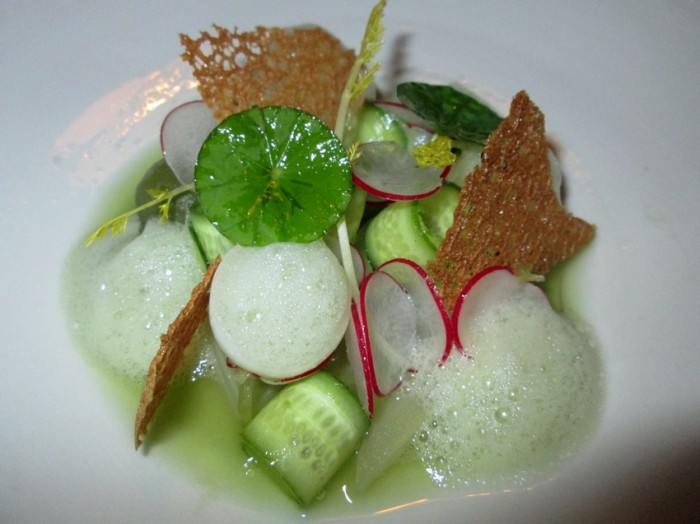 celery, radish, cucumber juice, Bruges cookie makes for good vegan dining in Belgium.