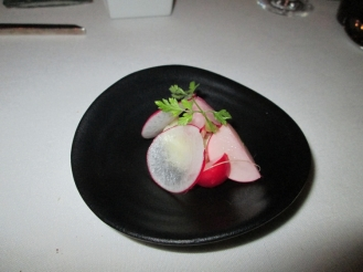 parsnip and marinated radish