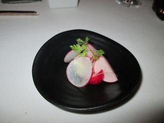 parsnip and marinated radish