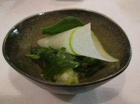 apple, celery, endives, rucola