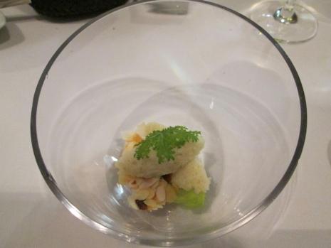 couscous, lettuce heart, almonds