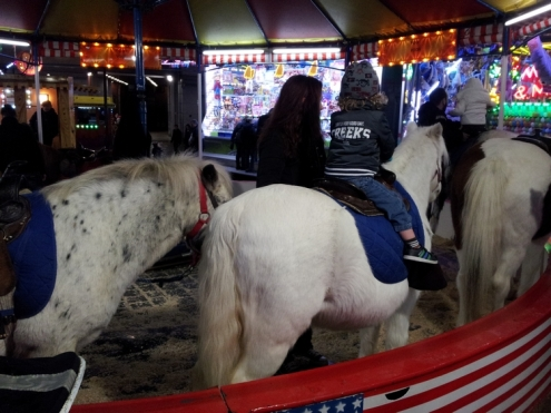 pony carrousel on the funfair of Bergen (Mons)