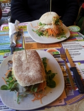 Our lunch on a previous visit to Lombardia