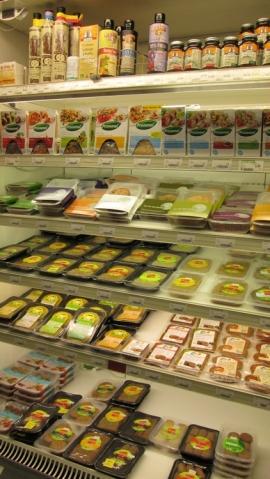 tofu, bread spreads, burgers etc
