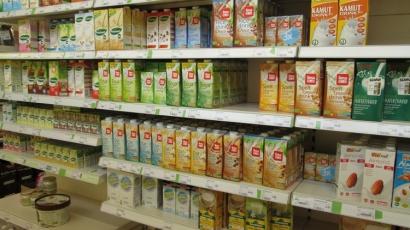 vegan 'milk' drinks, Biovita, Bruges