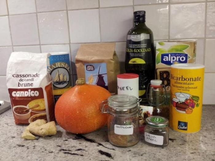 Ingredients pumpkin waffles