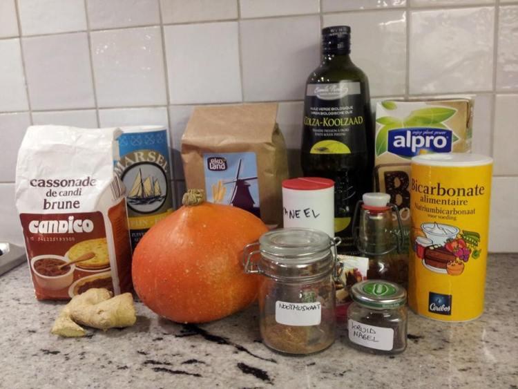 Ingredients pumpkin waffles