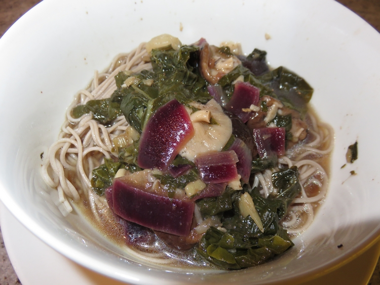 Umeboshi broth with soba noodles