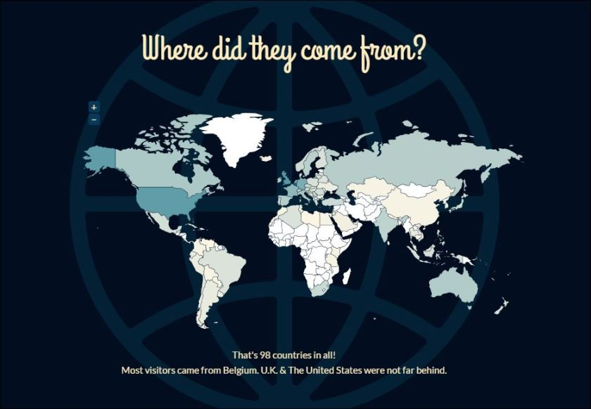 Visitors from 98 countries, The Bruges Vegan