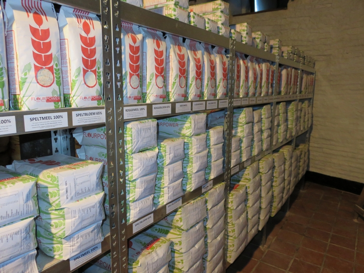 Inside the shop, Flourpower