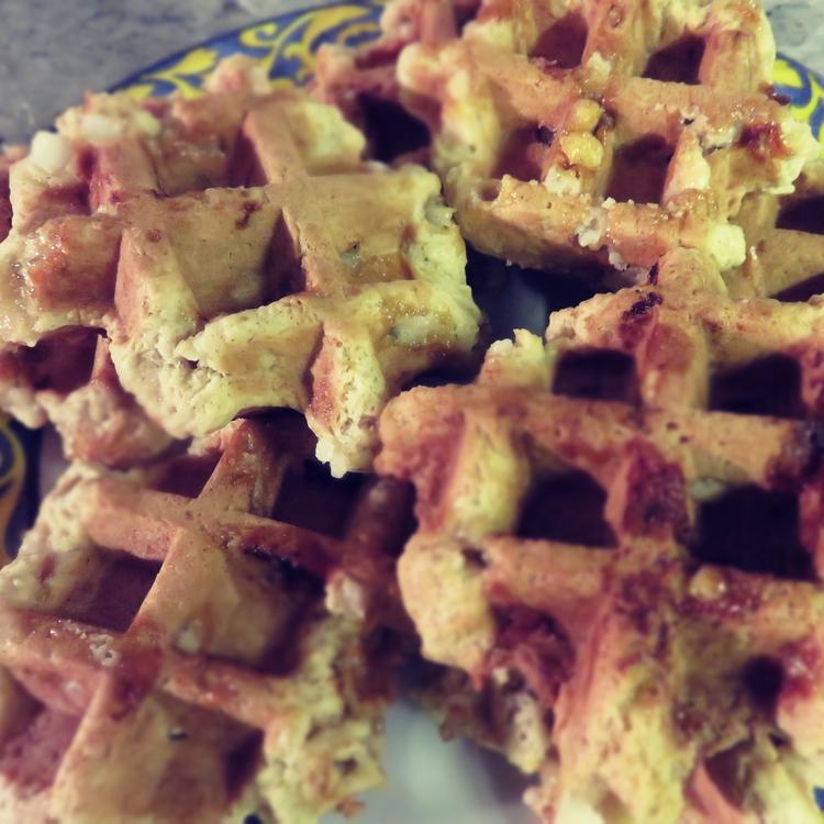 Vegan Liegeois waffles