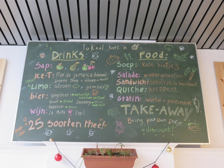 Lokaal, menu