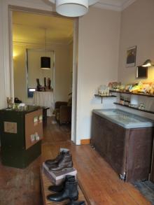 Inside vegan shop V|edge, Ghent
