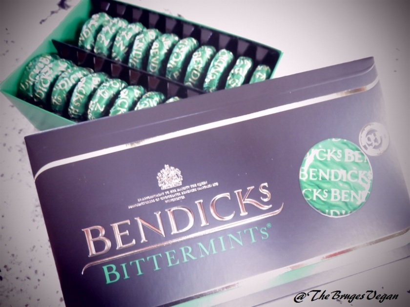 Bendicks Bittermints, vegan chocolates with mint filling