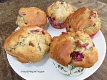 cherry hazelnut muffins