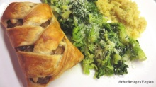 sausage plaits with savoy cabbage and quinoa