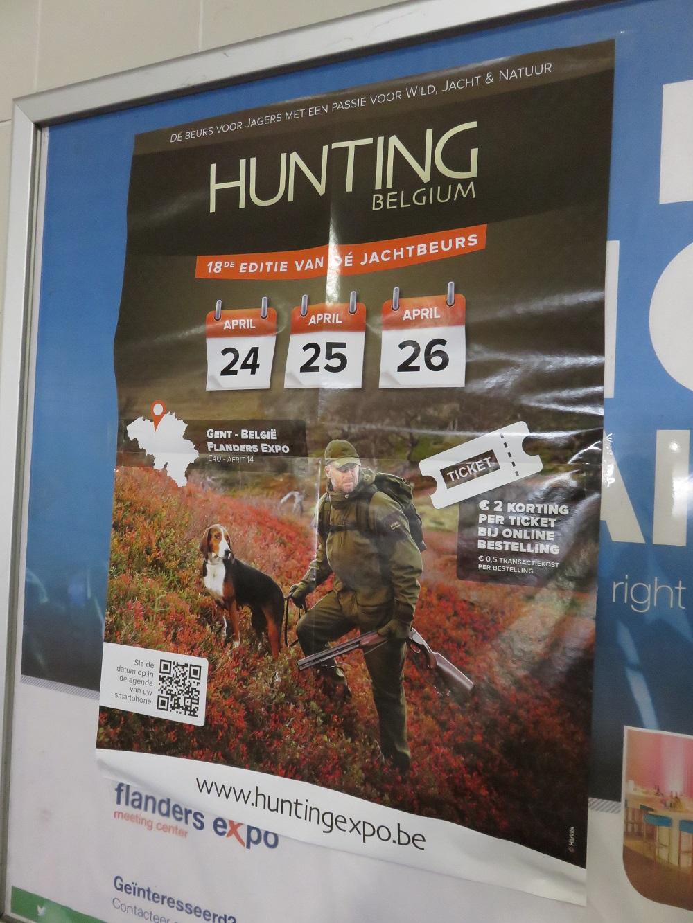 Huntingexpo, April 2015, Ghent, belgium