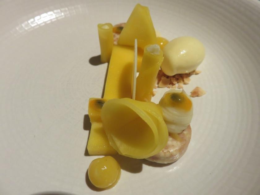 mango witte chocolade en passievrucht