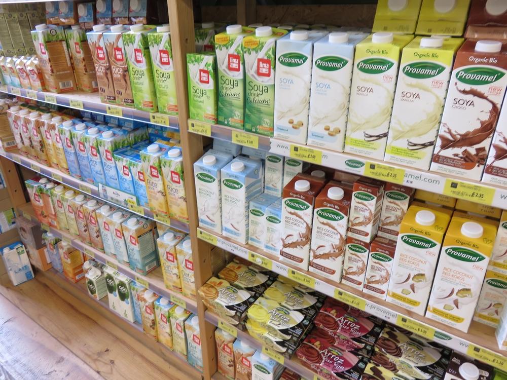 Plant based milks and desserts