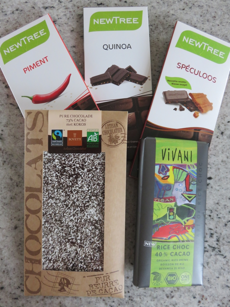 vegan chocolates, bought at Mordan