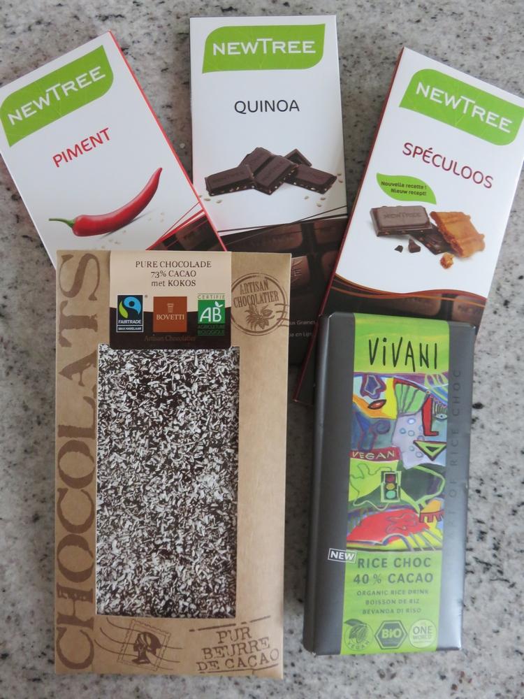vegan chocolates, bought at Mordan