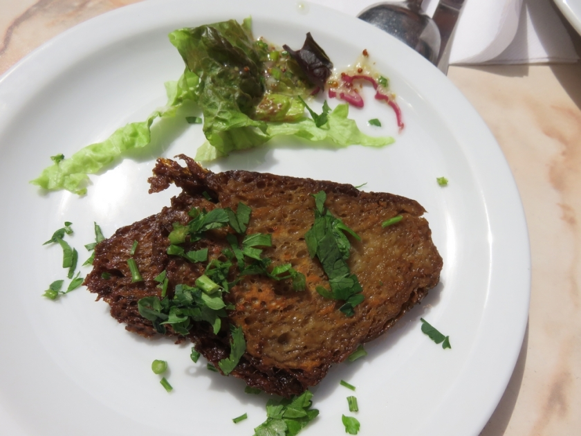 Baked seitan on the side, 2,70€