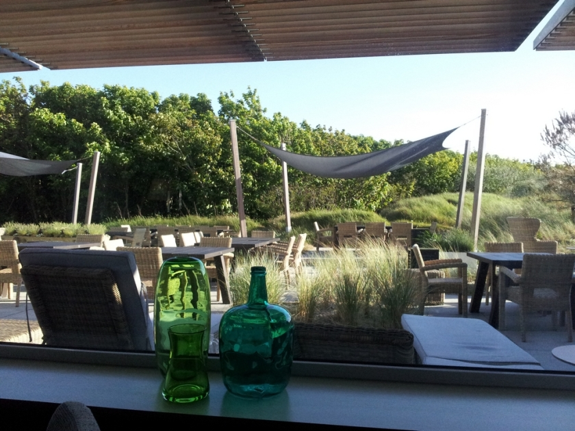 terrace at restaurant Opduin