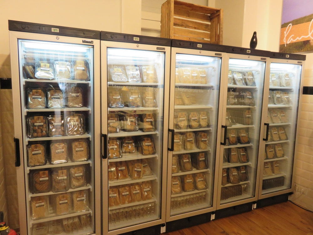 Freezers at the back