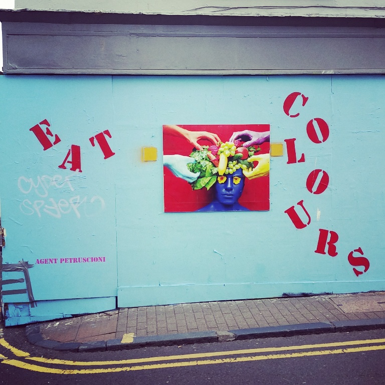 Mural, not far from The Prince George, Brighton