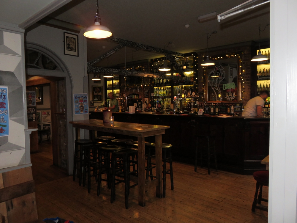 The Prince George, view at the bar