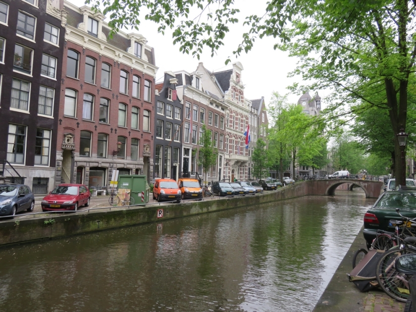 houses along the canal in Amsterdam
