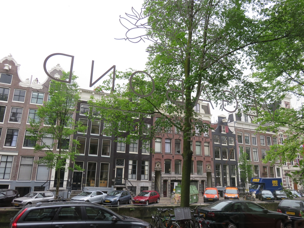A nice view on the typical Amsterdam houses along the canals