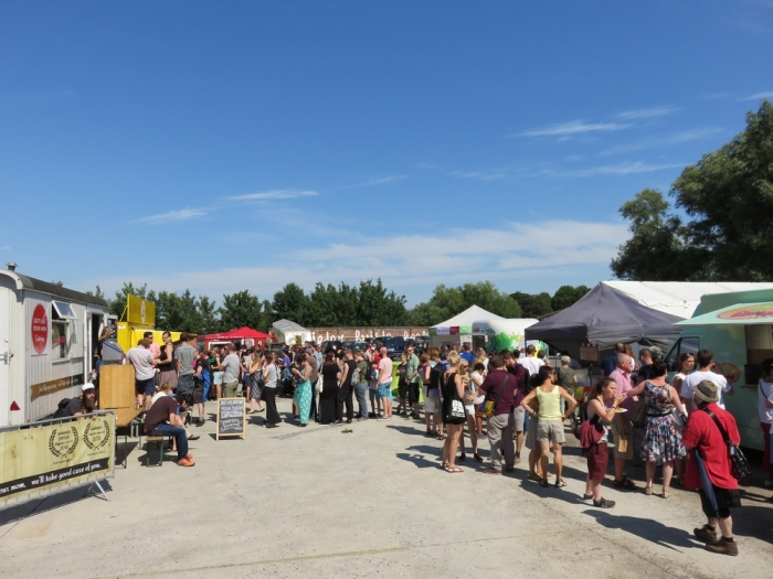 Foodtrucks outside @vegan summerfest