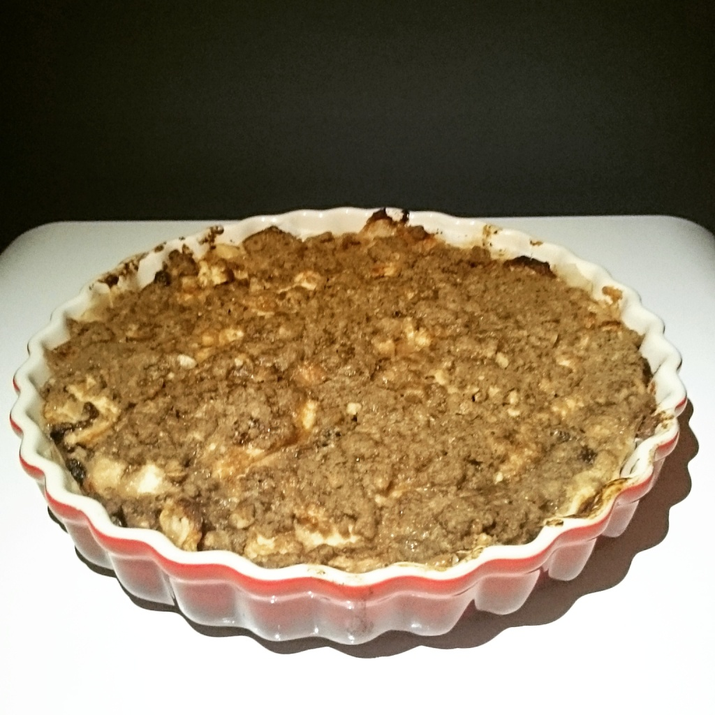 Apple pie, coming out of the oven