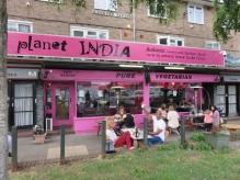 vegetarian restaurant Planet India, Brighton, UK