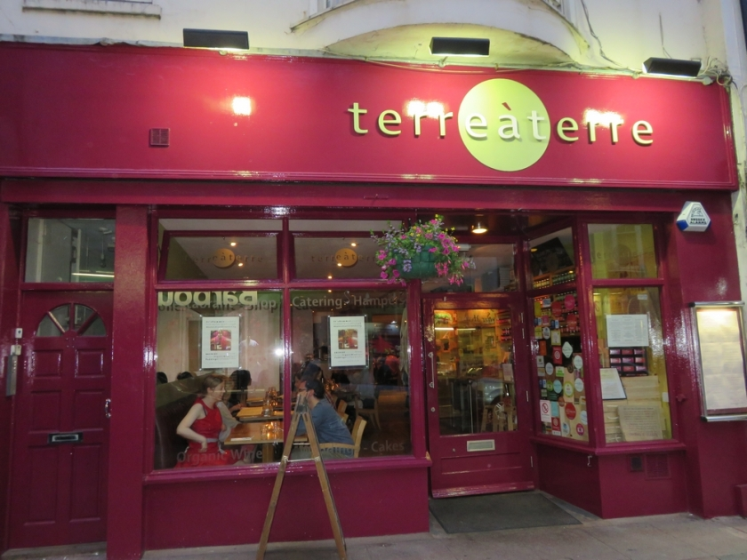 vegetarian restaurant Terre a Terre, Brighton, UK