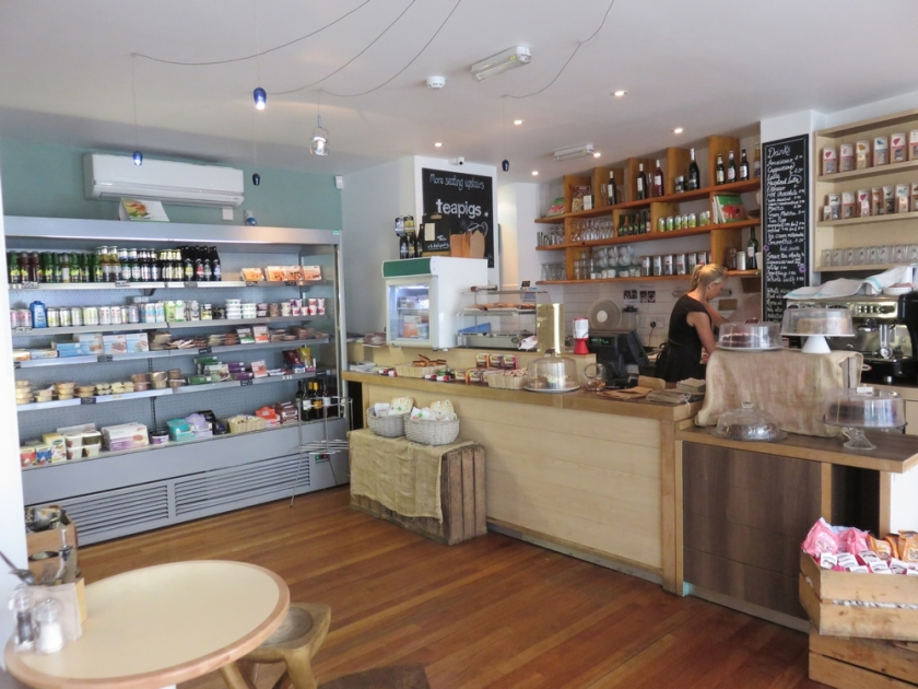 VBites Brighton, interior, with a part of the store