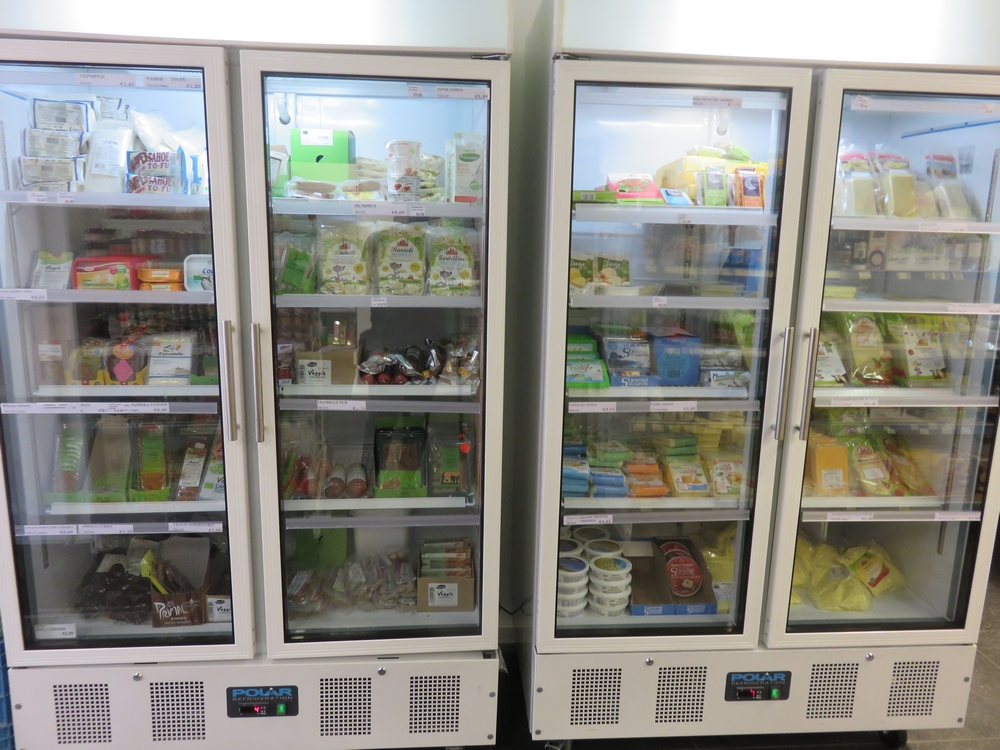 Freezers at veggie4u, The Hague, NL