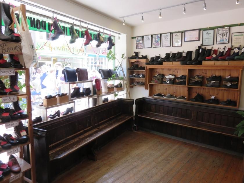a look inside shop Vegetarianshoes, Brighton, UK