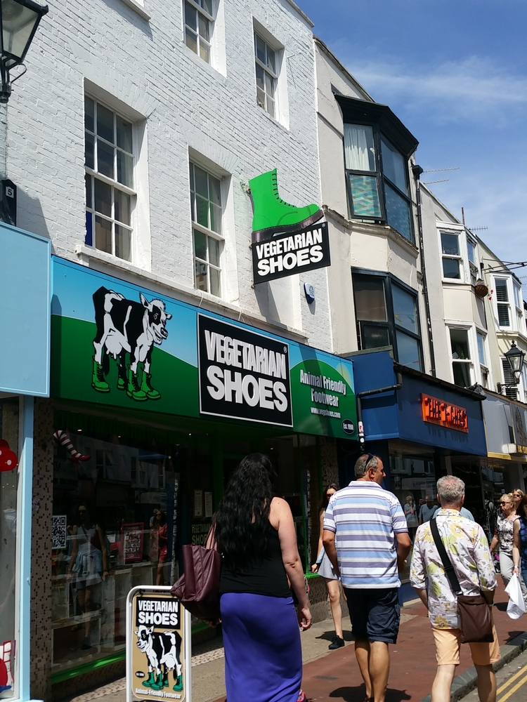 shop Vegetarian shoes, Brighton, UK