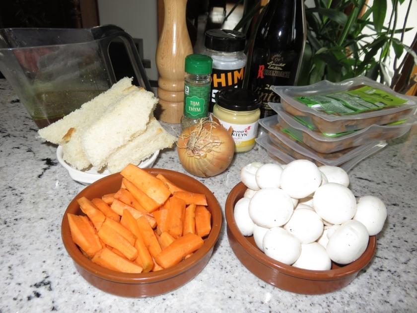 Ingredients Vegan Flemish stew