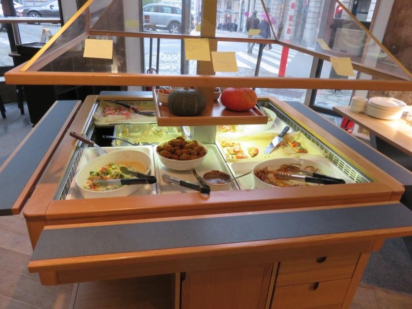 buffet @ vegan restaurant Moonfood, Brussels