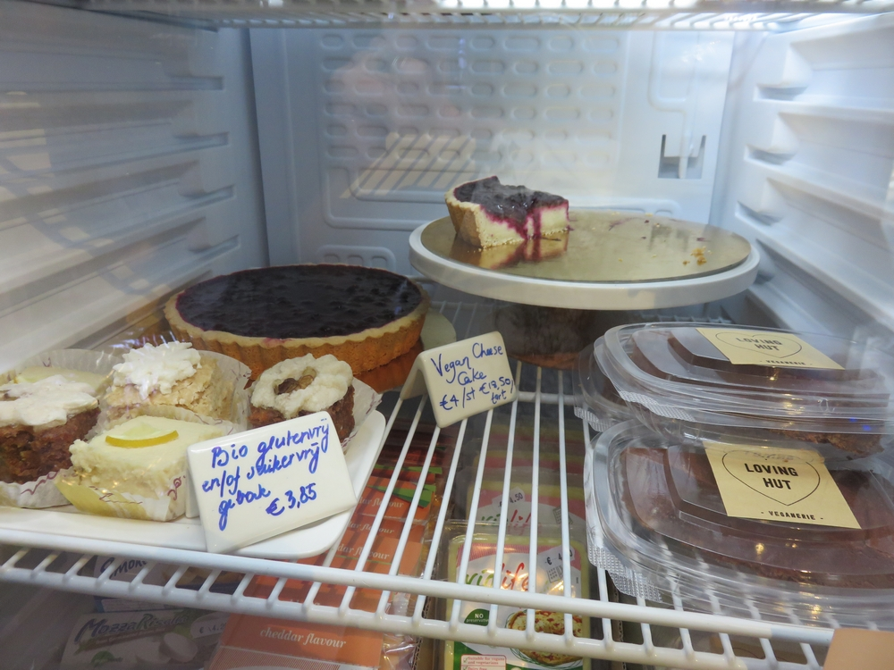 Selection of desserts, Veganerie Louvain